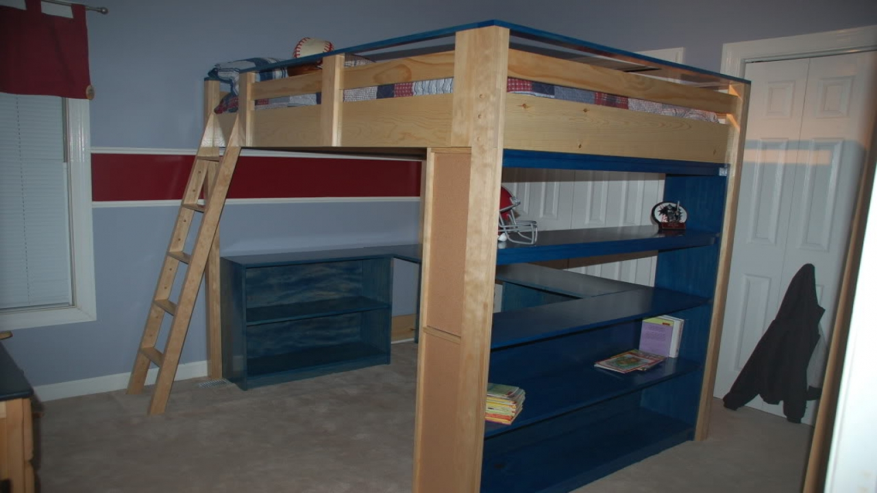 Loft Bed With Desk Underneath Loft Bed With Desk Plans