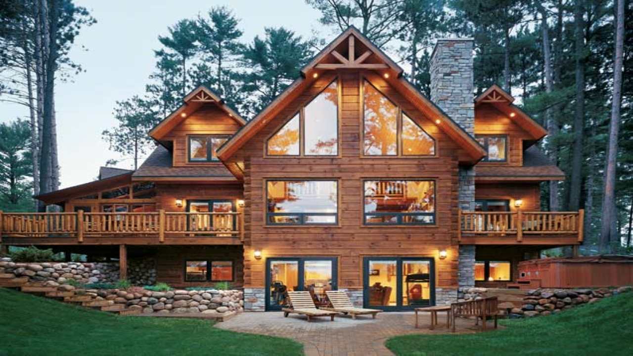 Log Cabin Style Homes Inside Log Cabin Style Home Lake