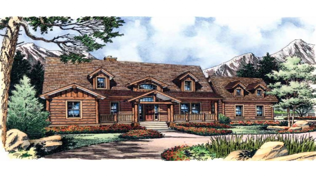 Log cabin style house plans log cabin floor plans and for House plans lodge style