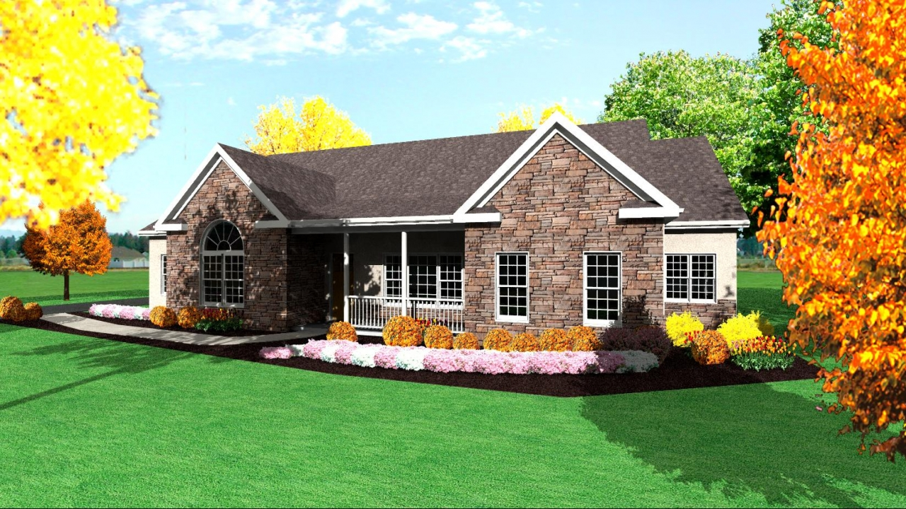 Modern one story ranch house one story ranch house plans for One story ranch