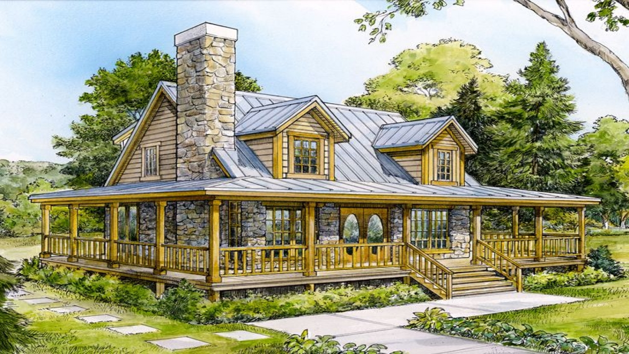 Mountain home small house plans small mountain cabin for Mountain cottage home plans