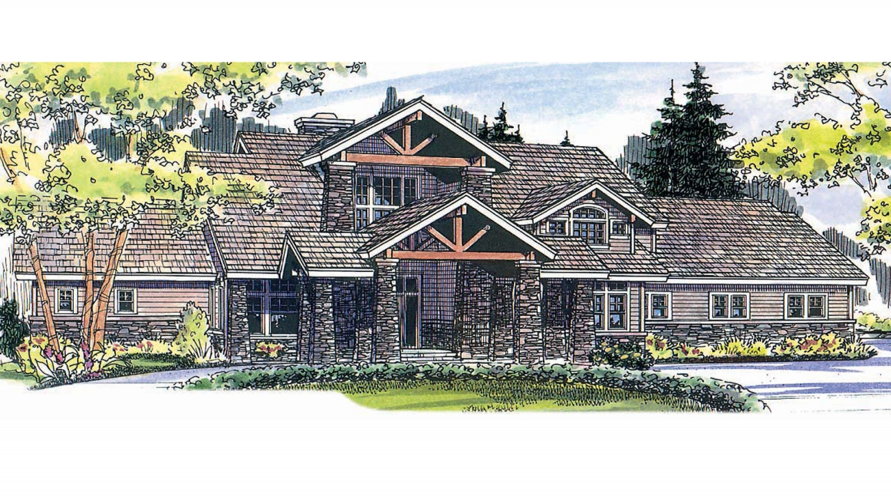 Mountain lodge house plans lodge style house plans for Mountain lodge home plans