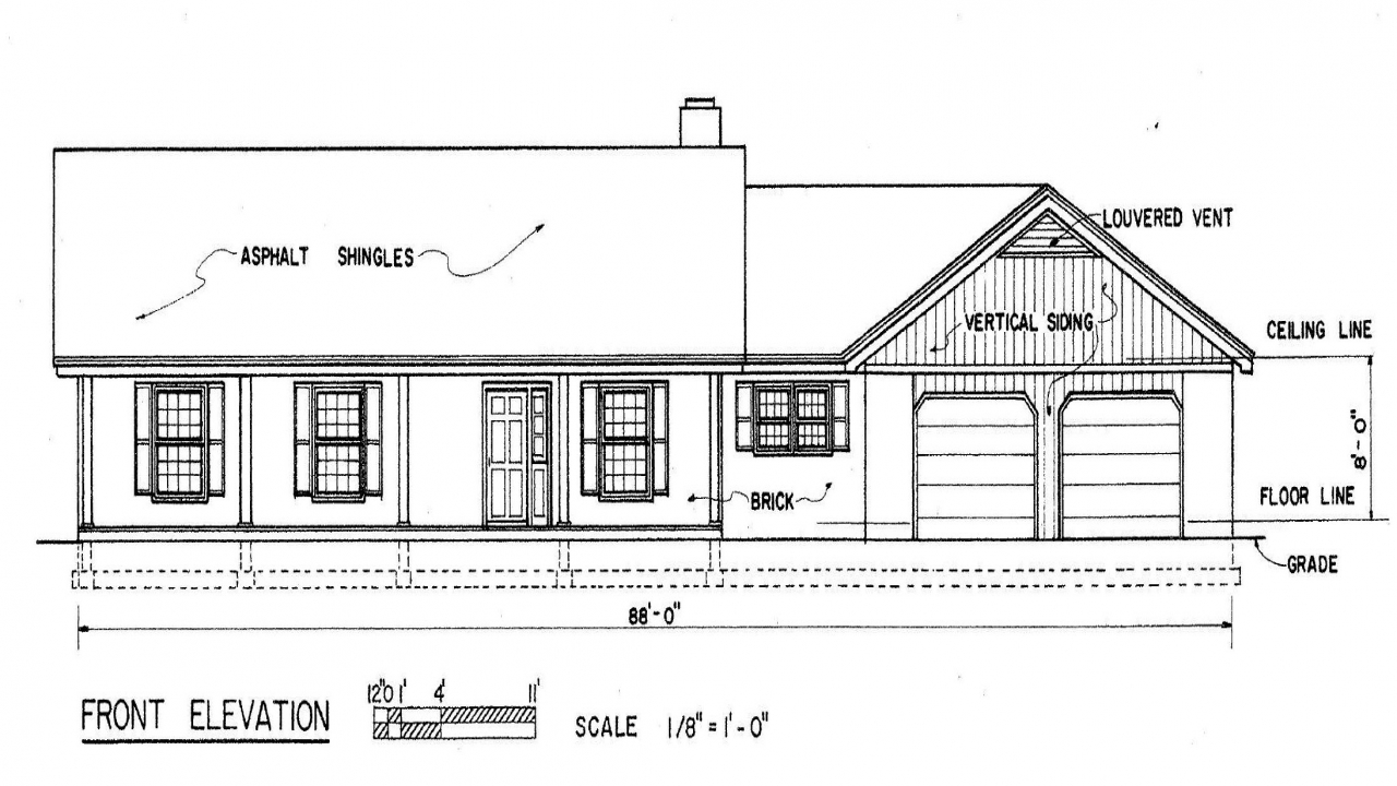 Simple ranch house floor plans simple ranch house floor for Simple roofline house plans