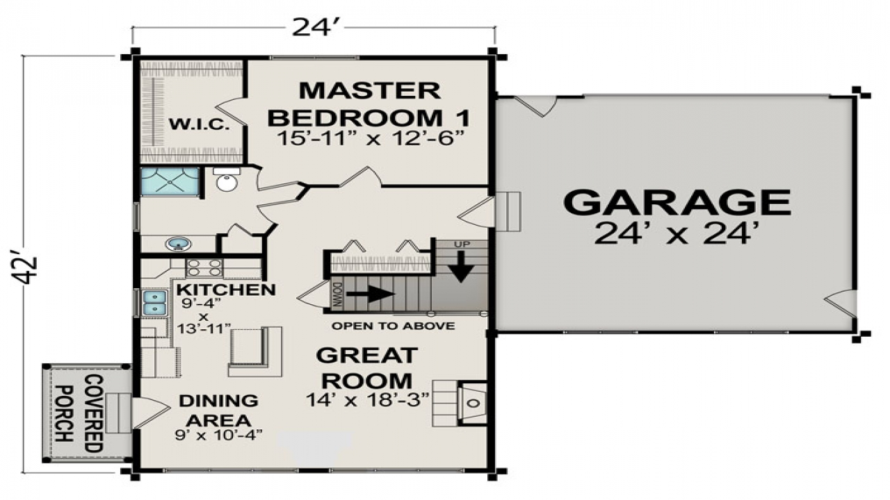 Small house floor plans under 600 sq ft small two bedroom for Small lake homes floor plans