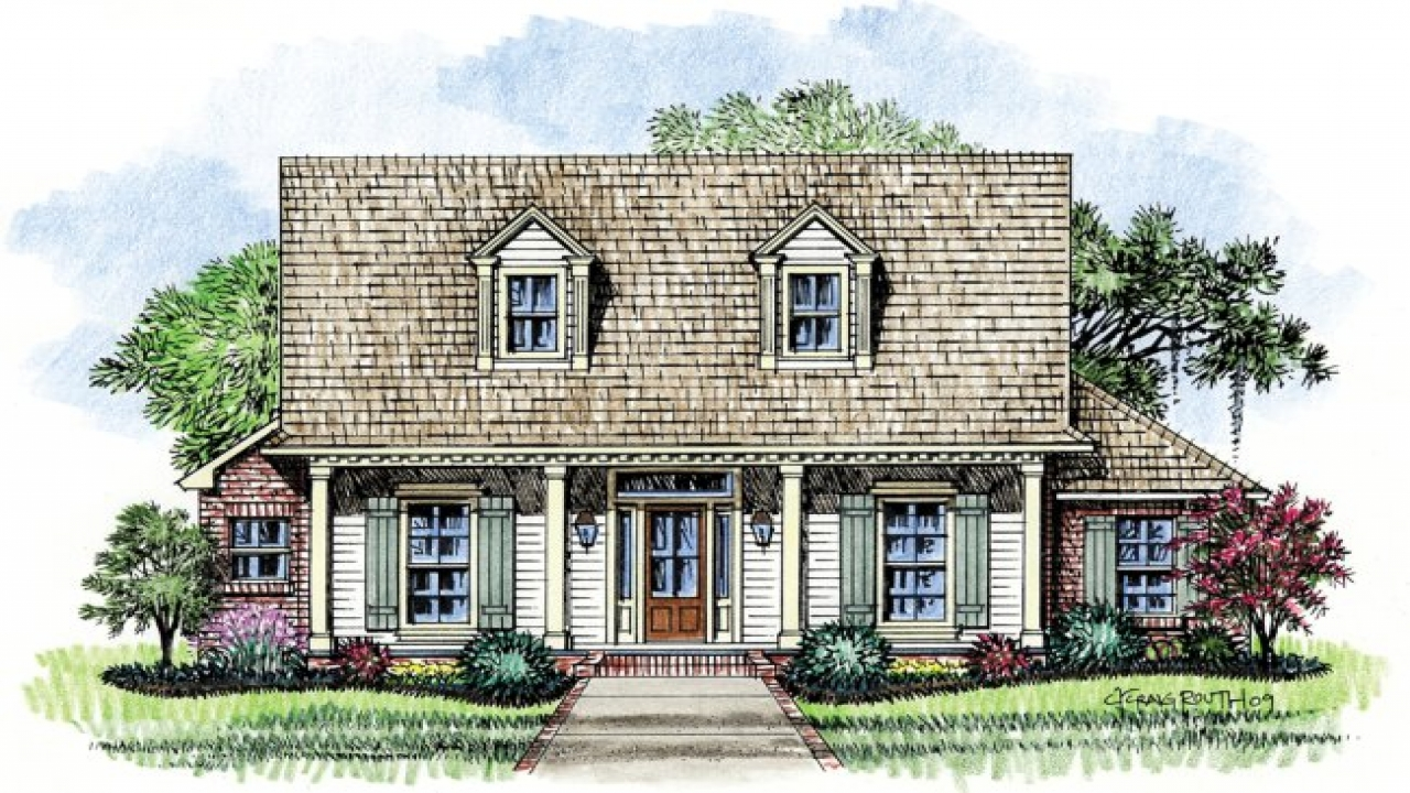 Acadian cottage house plans old acadian style house plans for Acadian home design