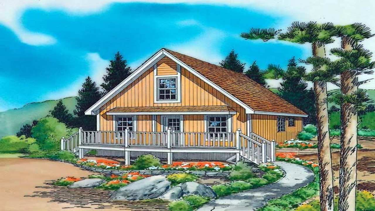 Country cottage house plans with porches country cabin for Country cabin designs