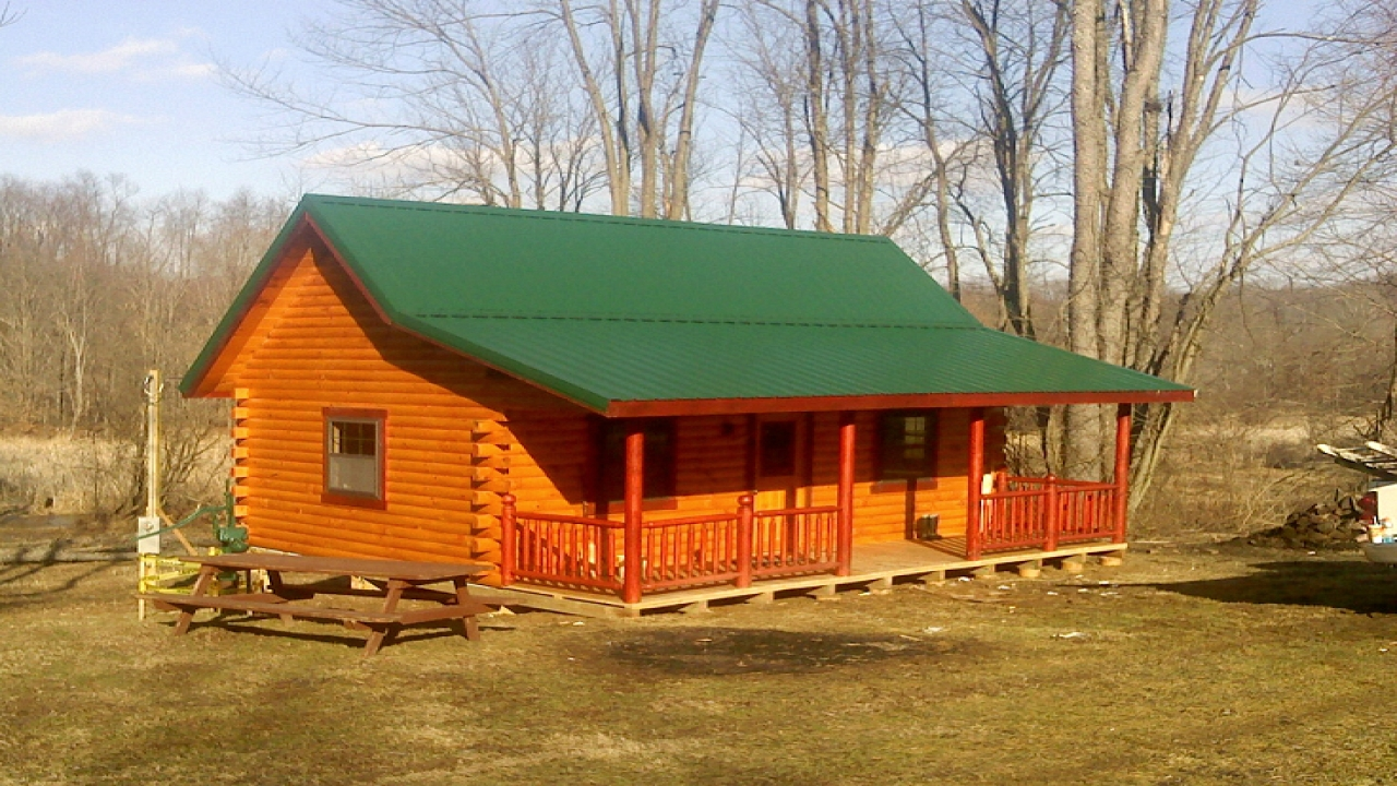 Hunting cabin designs kit log hunting cabin cheap hunting for Ranch home kits for sale