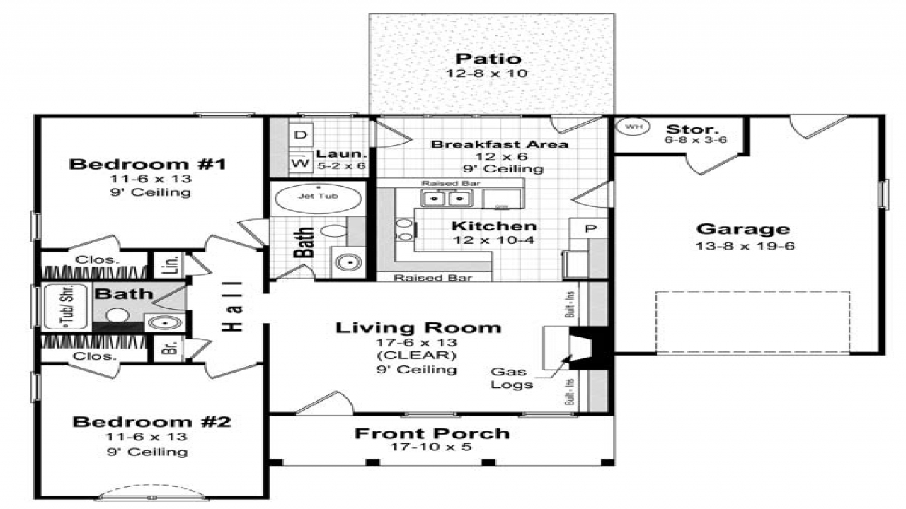 Simple house plans designs simple single level house plans for Simple one level house plans