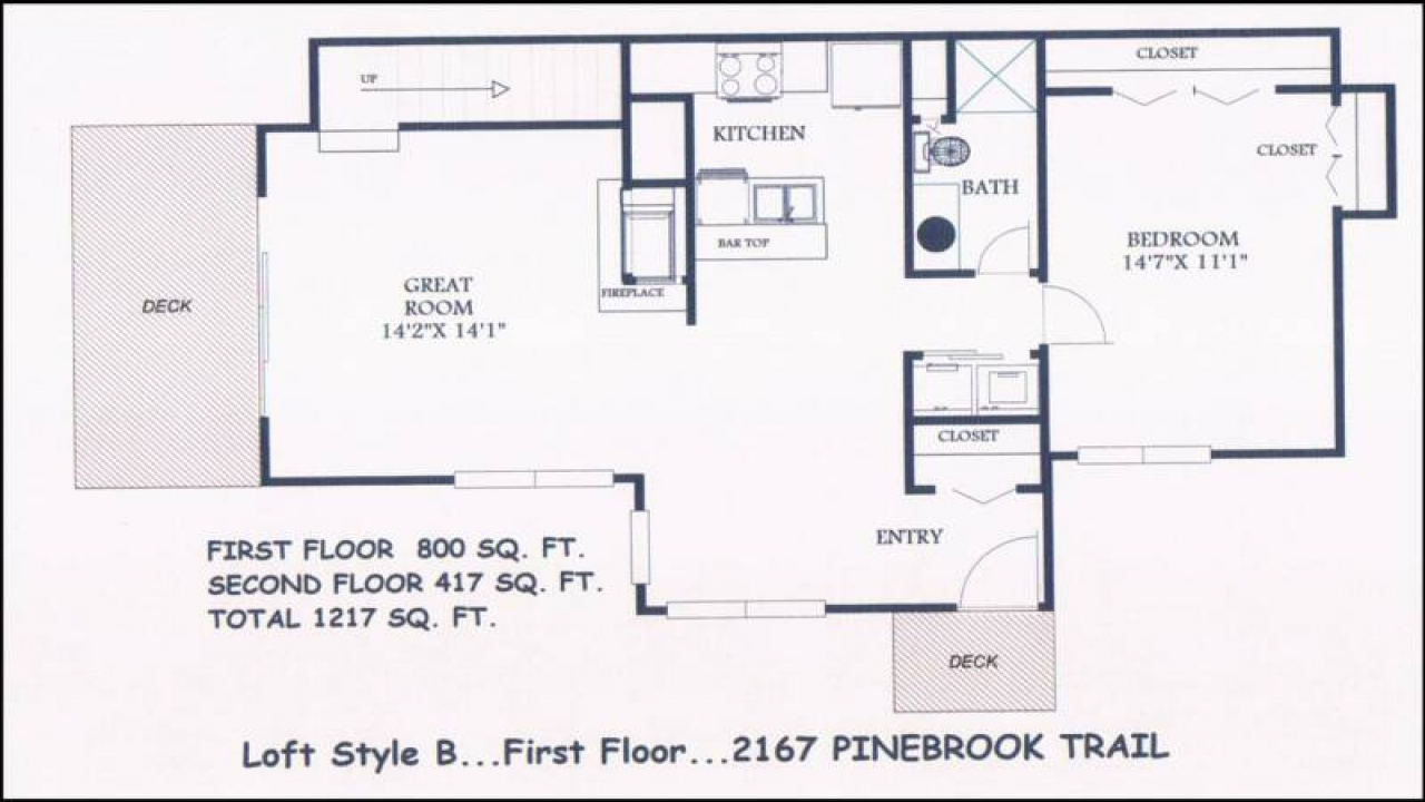 Small floor plans with loft small cottage house plans for Small house plans with loft