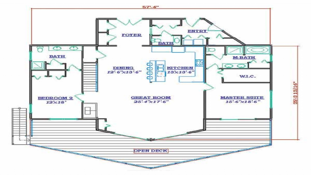 Small Lake House Floor Plans 3d Small House Blueprints
