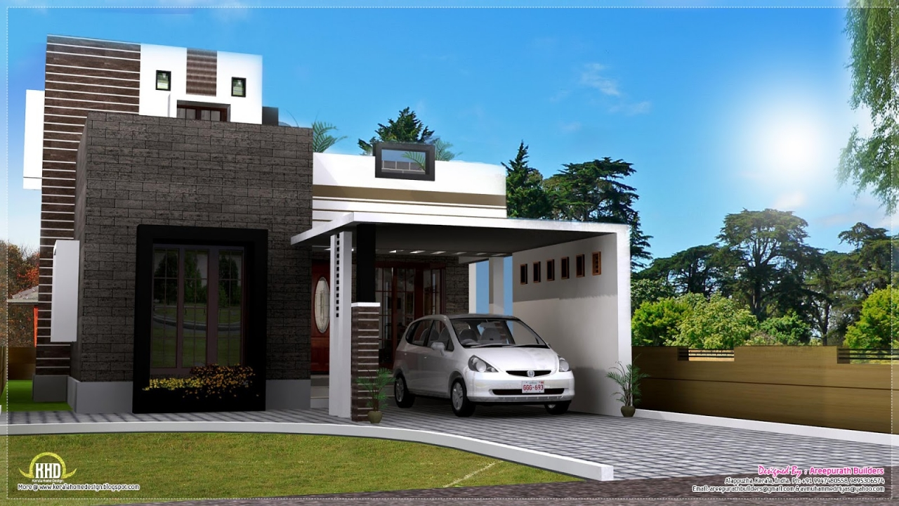 Small modern house exterior design images of exterior for Small house exterior design pictures