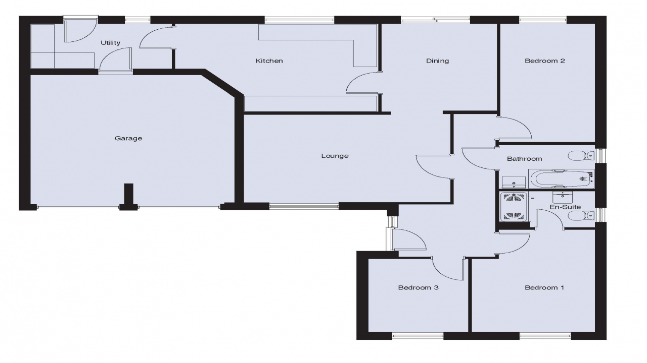 2 Bedroom Bungalow Floor Plans: 3 Bedroom Bungalow Floor Plans 3 Bedroom 2 Bath Bungalows