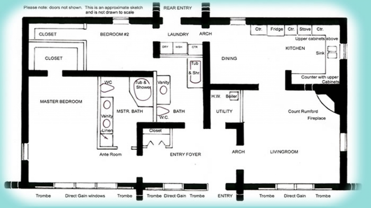 3 Bedroom House Plans Simple House Plans Small Solar Home Plans