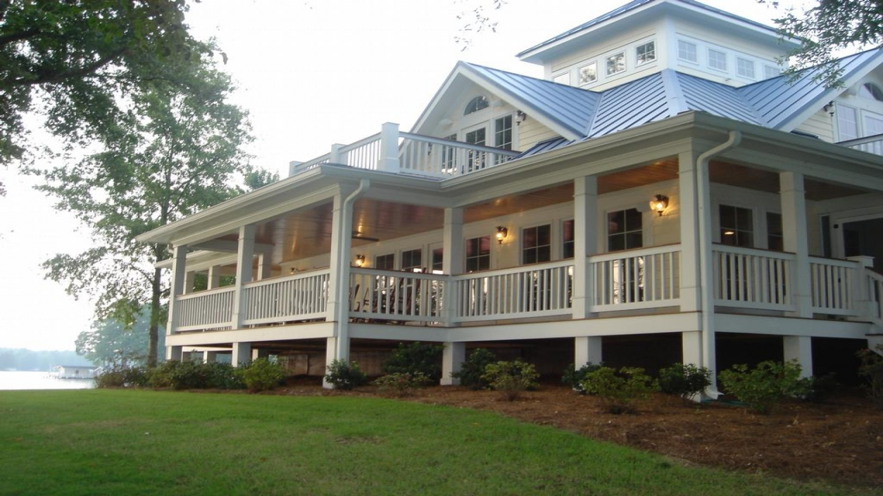 Cottage house plans with wrap around porches cottage house for House plans with fireplace