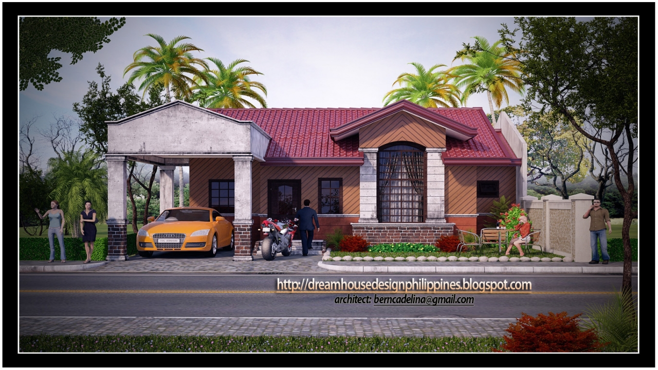 Modern bungalow house designs philippines modern asian for Oriental house design
