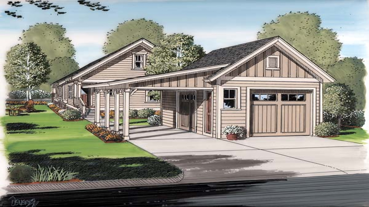 Cottage house plans with porches cottage house plans with for Cabin house plans with garage