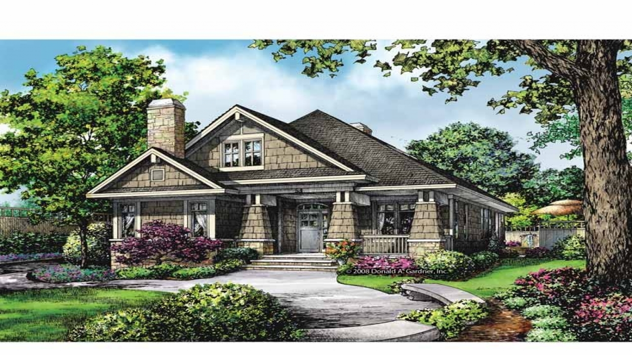 Craftsman style house plans craftsman bungalow house plans for Bungalow house plans alberta