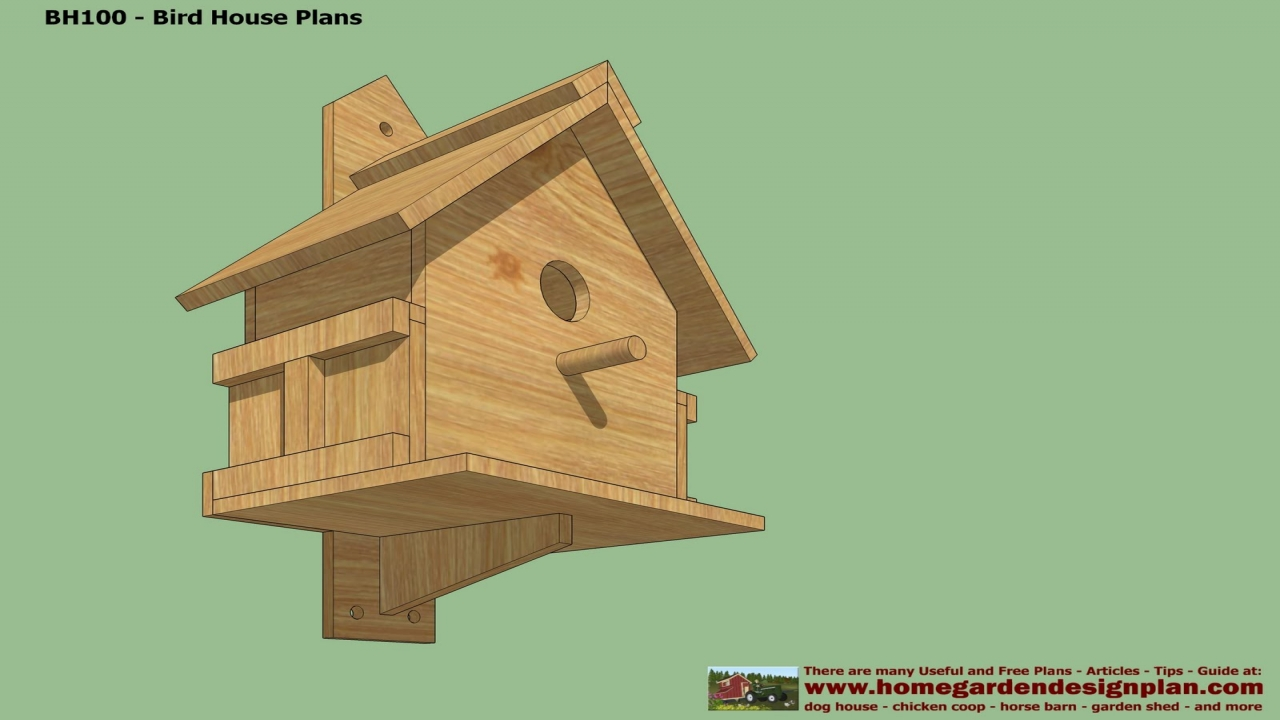Free Bird House Plans Rustic Bird House Free Plans ...