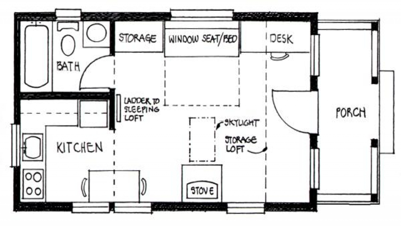 Inside tiny house interior design tiny house floor plans for Cottage home plans with loft