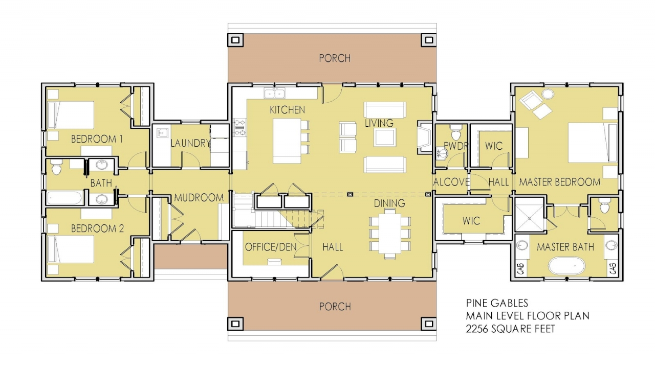 Tiny house plans with loft house plans with 2 master for Small house plans with two master suites