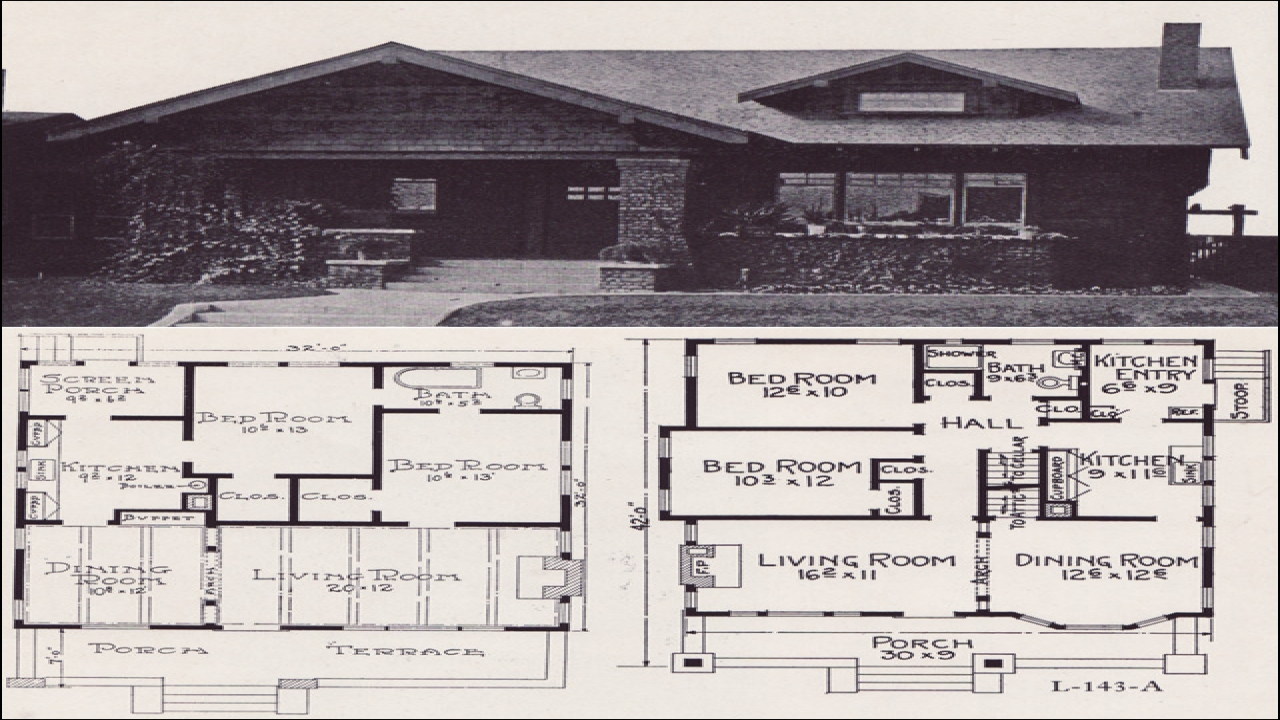 1920 Bungalow House Plans 1920s Brick Bungalow House Plans