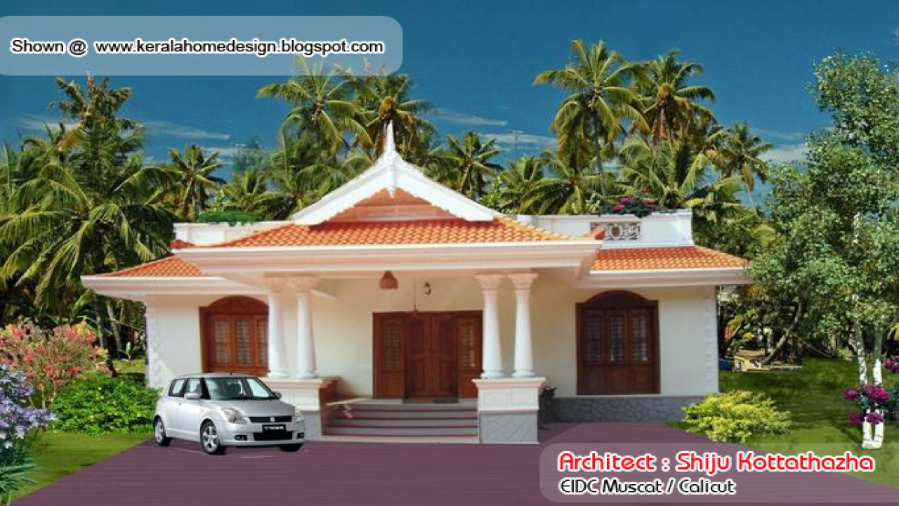 Beautiful house designs kerala style kerala style single floor house plan small housing plan - Kerala beautiful house ...