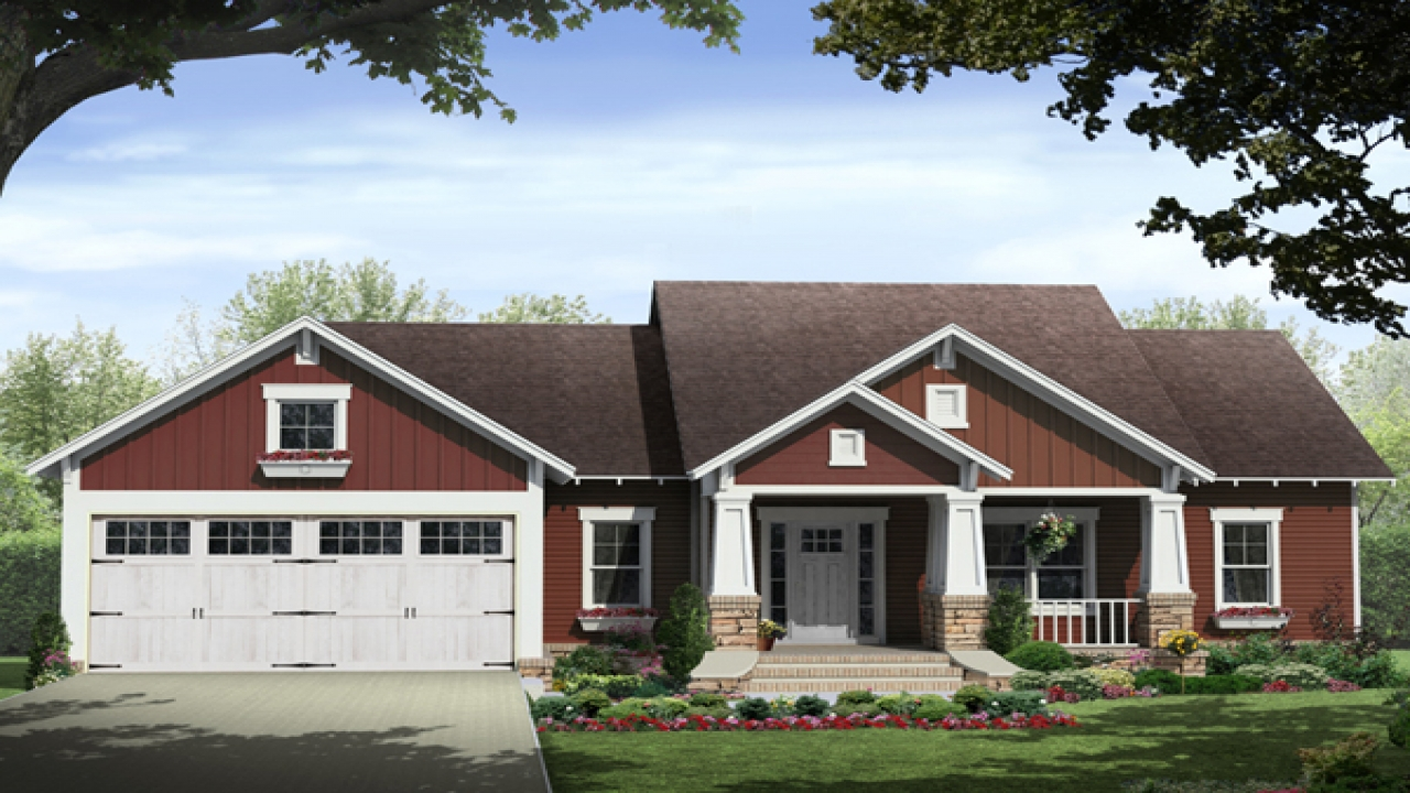 Craftsman house plans small cottage craftsman style house for Small craftsman bungalow plans