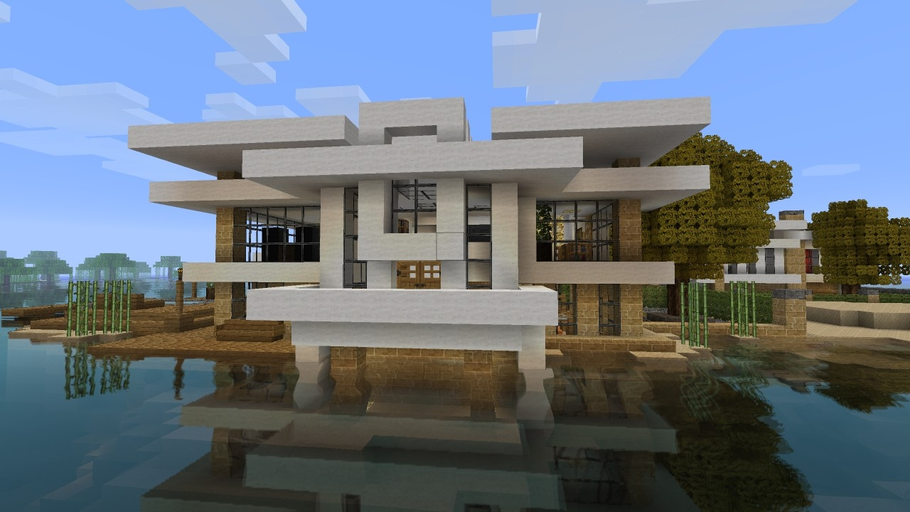Epic minecraft house tutorial minecraft modern house for Epic house plans