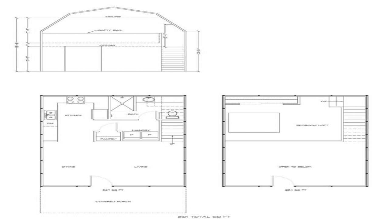 Gambrel style barn plans gambrel barn house plans with for Gambrel barn house plans