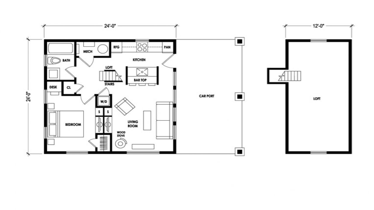 Micro Cabin Floor Plans Second Floor Loft Compact Cabins
