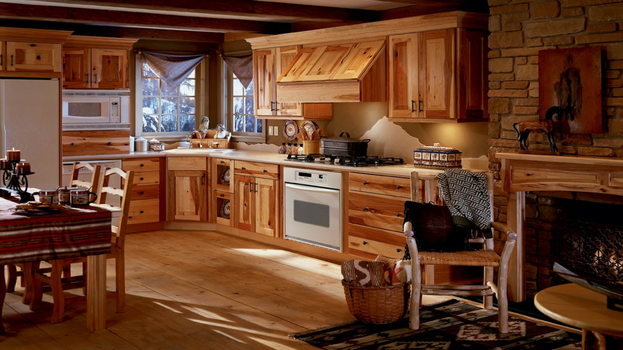 Small Log Home Kitchens