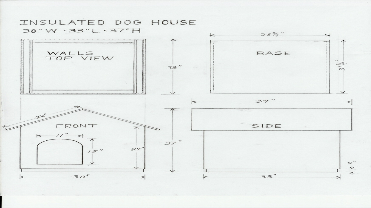 Simple dog house plans dog house design plans house plans for House plans with material list