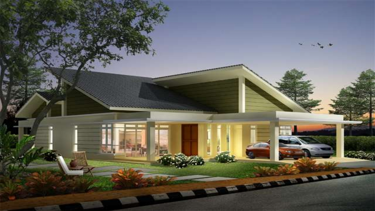 Single storey bungalow house designs single storey for Single storey bungalow design