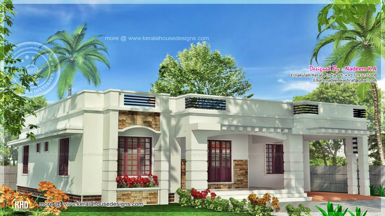 Beautiful house designs kerala style single floor kerala for Kerala style single storey house plans