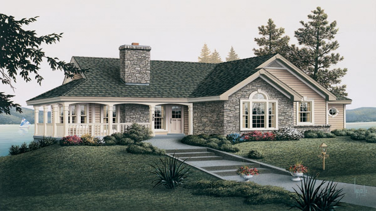 country cottage house plans with porches english country Farmhouse with Wrap around Porch Ranch Style House Plans with Porches