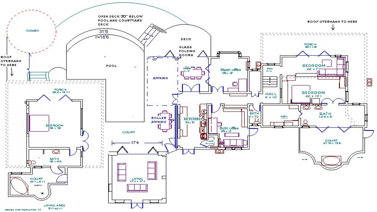 House floor plans with measurements house floor plans with for House plans with indoor swimming pool