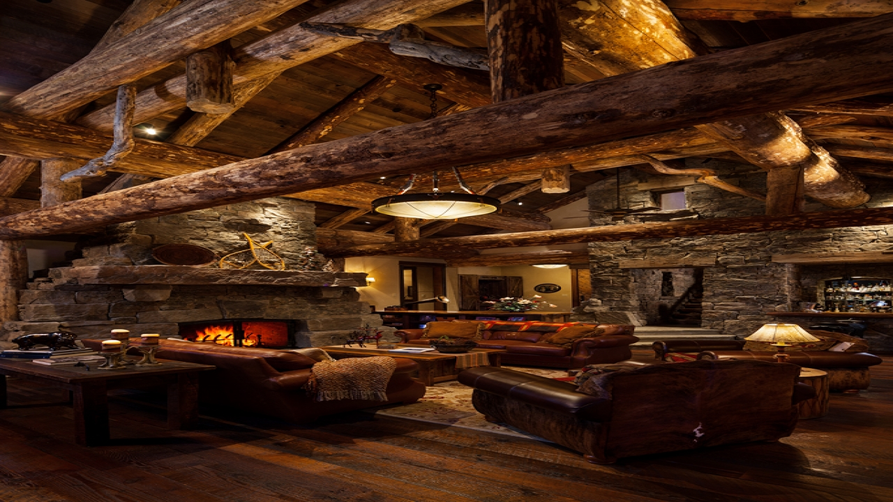 Living Room Rustic Log Cabin Homes Country Rustic Living