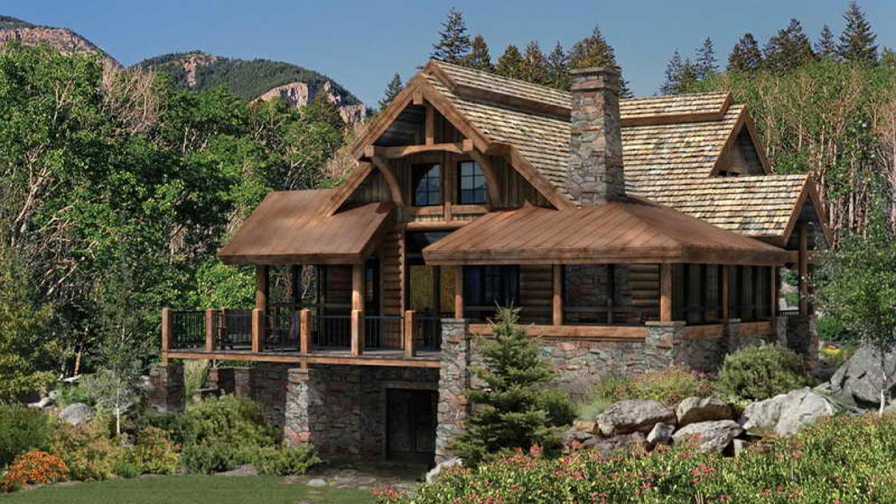 Log cabin floor plans and designs luxury log cabin floor for Luxury log home floor plans