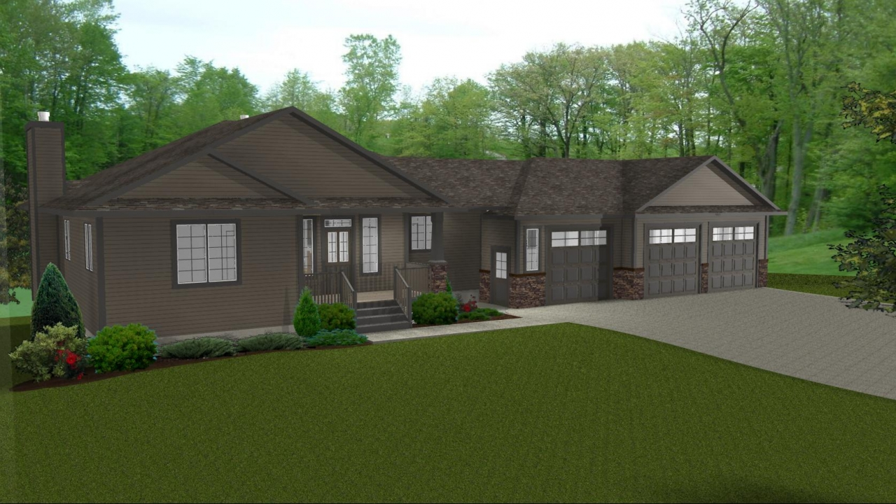 Ranch house plans with 3 car garage ranch house plans with for Ranch floor plans with two master suites