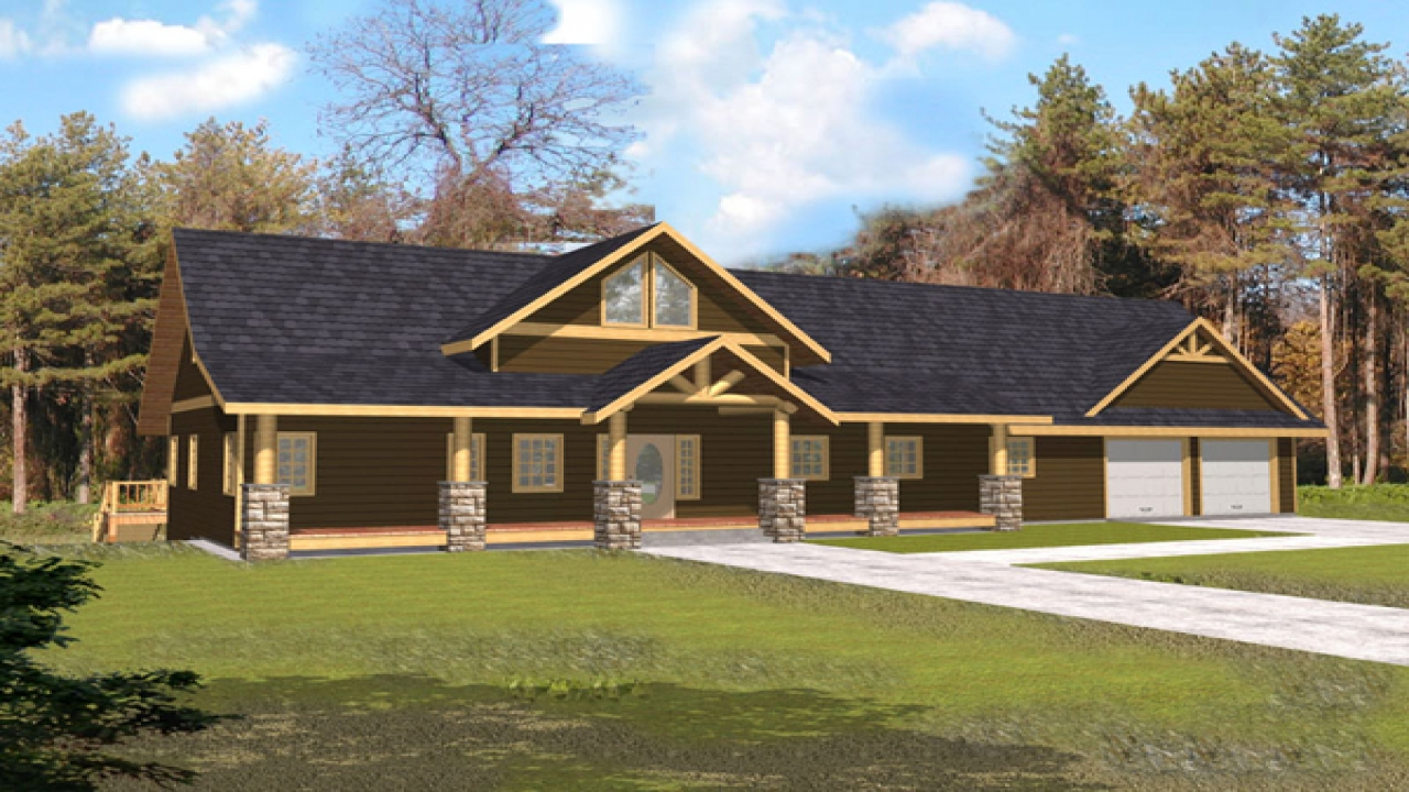 Rustic House Plans With Open Concept Rustic House Plans