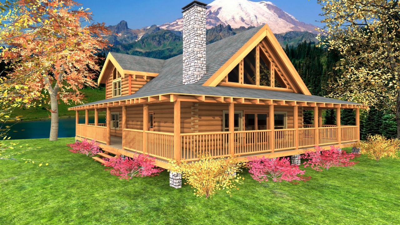 Small Cabin Floor Plans Wrap Around Porch