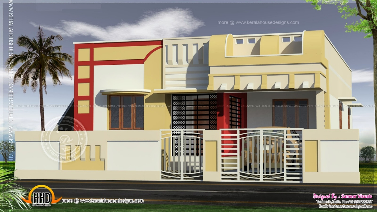 Simple House Elevations Small Indian House Elevation ...