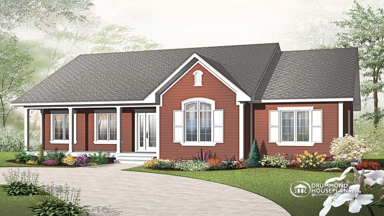 Single story cottage house plans single story house for New construction single story homes