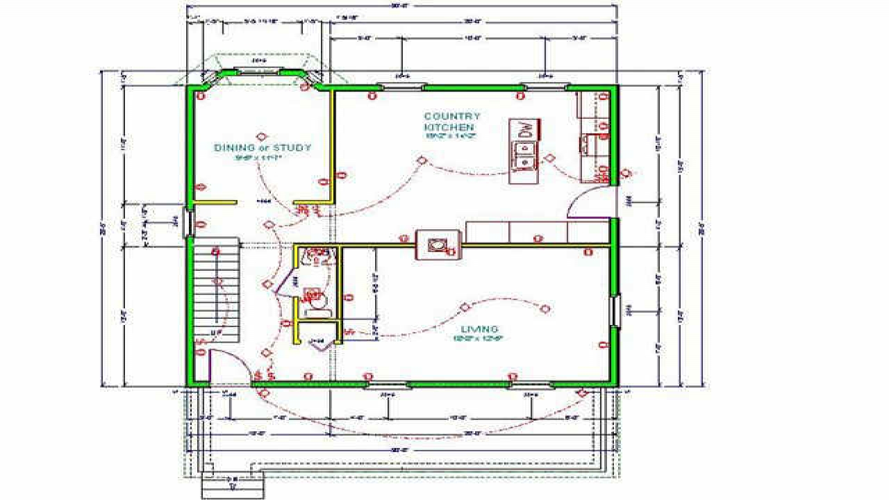 Small cabin floor plans fishing hunting cabin plans for Fishing cabin floor plans