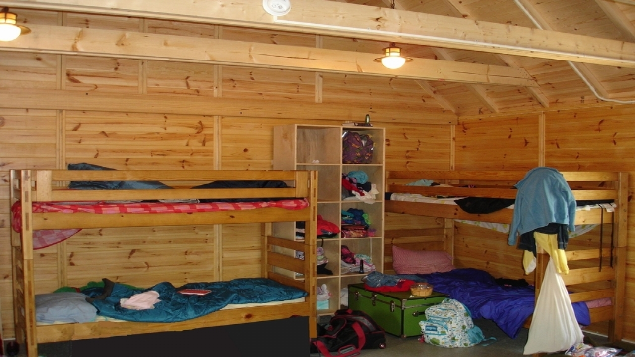 Summer camp cabin inside camp cabin kits campground cabin for Single room log cabin kits