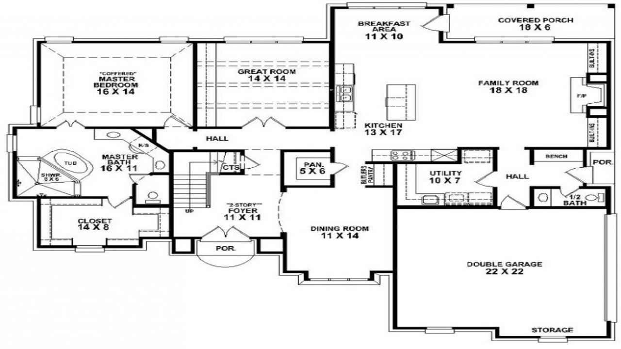 4 bedroom 3 bath mobile home floor plans 4 bedroom 3 bath for Bathtubs for manufactured homes