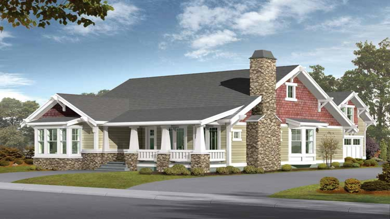 Open floor plans craftsman style craftsman home plans with for Ranch style house plans with mother in law suite