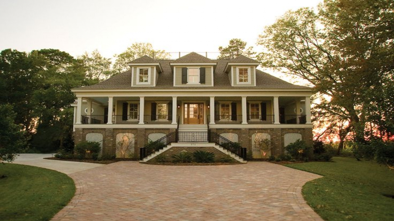 Raised low country house plans low country house kitchens for South carolina low country house plans