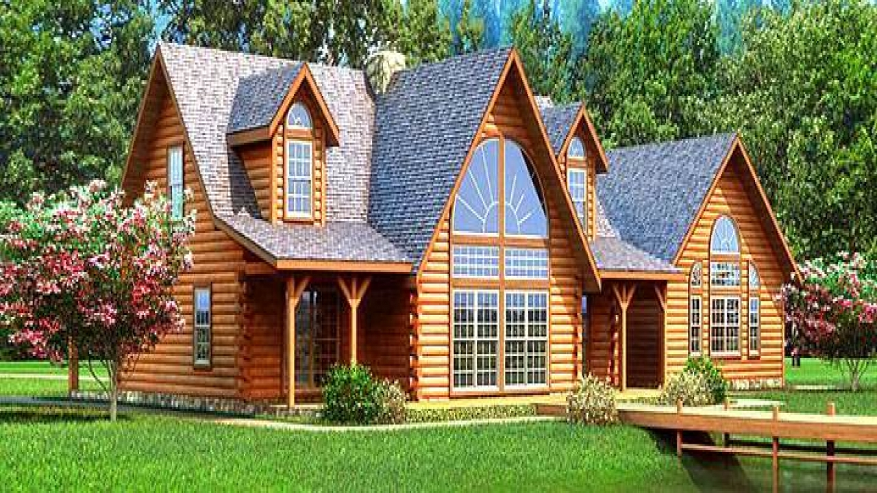 Small log cabin plans small log cabin homes large log for Large log cabin homes