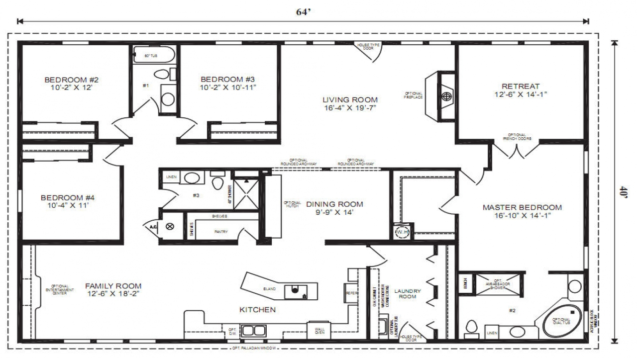 Home Design Ideas Floor Plans: Modular Ranch Floor Plan Designs Modular Home Floor Plans
